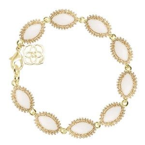 NEW Kendra Scott Jana bracelet in gold white pearl